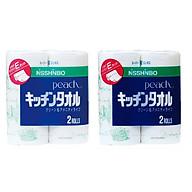 Combo 2 set 2 cuộn khăn giấy bếp nội địa Nhật Bản thumbnail