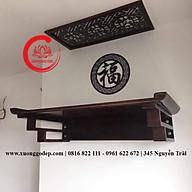 Bàn thờ treo tường gỗ sồi (tặng tấm chống ám khói) TT009 thumbnail