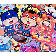 Hot - Phong bao lì xì hình thú Tân Sửu 2021 siêu đẹp, hình ảnh đa dạng thumbnail