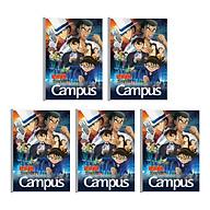 Lốc 5 Cuốn Vở B5 Kẻ Ngang Có Chấm Campus Conan-The First Of Blue Sapphire NB-BCFB200 - ĐL 70 (200 Trang ) - Mẫu Ngẫu Nhiên thumbnail
