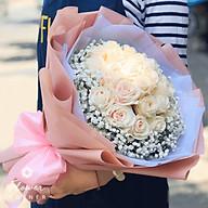 Bó hoa tươi hoa hồng kem - Perfect thumbnail