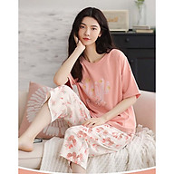 Đồ bộ mặc nhà , đồ bộ lửng nữ cotton mùa hè dễ thương 2160 thumbnail