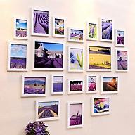 Bộ 20 Khung ảnh Treo Tường Composite Hình Trái tim lãng mạn KA2001. Miễn phí phụ kiện thumbnail