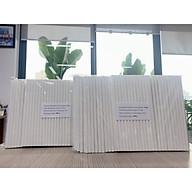 Ống hút giấy Clean Paper Straw kích thước 8mm x 197mm màu trắng dùng cho, sinh tố, đá xay.... (0,5kg) thumbnail