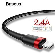 Cáp sạc iPhone 5 6 7 8 X XS XS Max Baseus Cafule dài 1m - Hàng chính hãng thumbnail