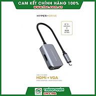 Cổng chuyển HyperDrive HDMI VGA 4K 2 in 1 HD-C2HV-Hàng chính hãng. thumbnail