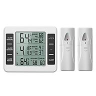 Máy đo nhiệt độ, độ ẩm từ xa không dây (Tặng kèm quạt cắm cổng USB vỏ thép giao màu ngẫu nhiên) thumbnail