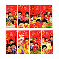 Xấp Bao lì xì truyền thống An Khang - Sung Túc - Như Ý - Bình An - Phú Quý - Phát Tài - Trẻ Trung - Mạnh Khỏe thumbnail