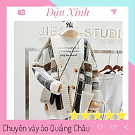 Áo cadigan len nữ hàn quốc dáng rộng cổ chữ v dáng áo khoác ngoài - 085 thumbnail