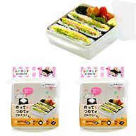 Bộ 3 hộp dùng làm Onigirazu và chia đồ ăn an toàn cho bé - Hàng nhật nội địa thumbnail
