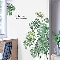 Decal trang trí chất liệu PVC loại 1 dày dặn, sắc nét, trang trí phòng khách, quán cafe- Tán lá xanh- mã sp QR9146 thumbnail