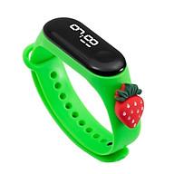 Đồng hồ trẻ em Silicon nhiều màu, đồng hồ điện tử thông minh cho bé E132 - Dâu tây xanh thumbnail