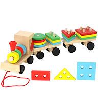 Đồ chơi đoàn tàu thông minh chở gỗ thumbnail