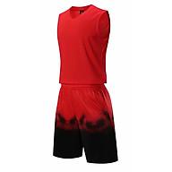 Bộ quần áo bóng rổ trơn màu đỏ - Bộ quần áo bóng rổ để in áo đội- Quần áo bóng rổ không logo - Mẫu 2021 thumbnail