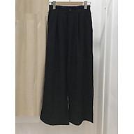 Quần culottes đũi cạp cúc Q139 - đen thumbnail