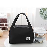 Túi giữ nhiệt hộp cơm văn phòng, du lịch tiện dụng phong cách sang trọng lịch lãm, túi lót bạc cách nhiệt, chống thấm nước tiện dụng, mã TGN02 thumbnail