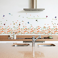Decal dán tường trang trí phòng khách, quán cafe- Chân rào hoa li ti- DSK7052 thumbnail