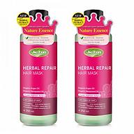 Combo 2 chai - Kem dinh dưỡng ủ tóc thảo dược Organic Jie Fen Hair Conditioner - Herbal Repair Hair Mask, Taiwan 250ml thumbnail