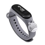 Đồng hồ trẻ em Silicon nhiều màu, đồng hồ điện tử thông minh cho bé E132 - MÀU GHI XÁM thumbnail