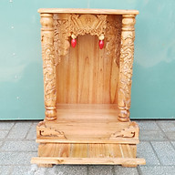 Bàn thờ gỗ Xoan Đào ngang 56 vàng nhạt thumbnail