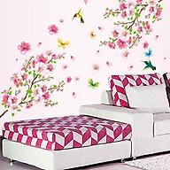 Decal dán tường trang trí Tết- Hoa đào đón xuân- mã DAY9158 thumbnail
