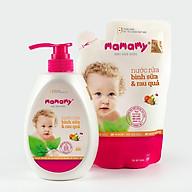 Combo 1 chai nước rửa 600ml Mamamy và 1 túi bổ sung 600ml nước rửa BS và rau quả thumbnail