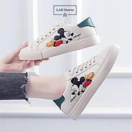 Giày thể thao nữ. Giày sneaker nữ in hình chuột MIC. Chất liệu da PU, đế cao su cao cấp. LAH STORES GSNU01 thumbnail