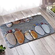 Thảm chùi chân 3D đính đá hình đôi bàn chân thumbnail