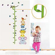 Decal dán tường trang trí phòng cho bé, lớp mầm non- Thước đo thú xinh- mã sp DAY9201 thumbnail
