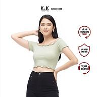 Áo Thun Trễ Vai Nữ K&K Fashion ASM06-25 Màu Xanh Croptop thumbnail