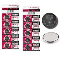 Combo 10 viên Pin Maxell CR2016 lithium 3v dùng cho remote, khóa điện tử, điều khiển, đồng hồ, cân điện tử,... thumbnail