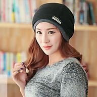 Mũ len trùm đầu đa năng nữ, nón len nữ 2 trong 1 thời trang thumbnail