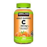 Kẹo Dẻo Vitamin C 250mg Kirkland Adult Gummies 180 Viên Của Mỹ - Tăng Cường Sức Đề Kháng và Hệ Miễn Dịch, Cho Làn Da Trắng Sáng Mịn Màng, Mờ Sẹo, Giảm Thâm, Nám, Mụn thumbnail