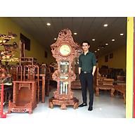 Đồng hồ cây chạm cửu long gỗ hương DH06 thumbnail