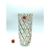 Lọ cắm pha lê hoa thủy tinh cao cấp vân vàng - ANTH492 thumbnail