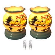Combo 2 đèn xông tinh dầu MNB03 và 2 bóng đèn thumbnail