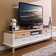 Tủ TV 5 Ngăn Kéo Vivid Gỗ Tự Nhiên Ibie LV5KVIVR - Trắng (160 x 42 cm) thumbnail