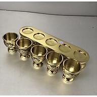 Bộ cúng nước bằng đồng vàng 5 ly - TL184 thumbnail