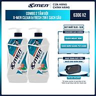 Combo 2 Tắm Gội X-Men Clean & Fresh 2in1 Sạch Sâu 630g chai thumbnail