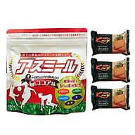 Sữa Asumiru Nhật Bản 180g - Vị cacao ( cho bé 3-16 tuổi ) Phát triển chiều cao, trí não tăng sức đề kháng và khả năng miễn dịch Tặng 03 bánh Crakers tảo biển thumbnail
