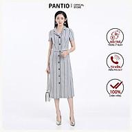 Chân váy dài vải linen kẻ độc đáo BJD52278 - PANTIO thumbnail
