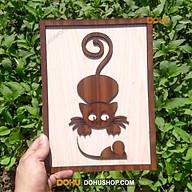 Tranh Treo Tường Bằng Gỗ Handmade DOHU007 Mèo Bắt Chuột - Thiết Kế Đơn Giản, Độc Đáo, Sang Trọng thumbnail