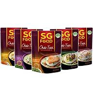 Combo 5 gói cháo tươi Sài Gòn Food vị (thịt bằm, sườn non, lươn, cá lóc, cá hồi) 270g thumbnail