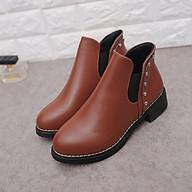 Giày Boots Nữ Dáng Lửng Đế Cao 4Phân Chuẩn Châu Âu YF1016 thumbnail