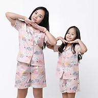 Pijama Mẹ và bé áo cộc quần đùi thumbnail