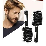 Large Curved Comb Ribs Comb Pig Bristle Anti-static Bending Massage Comb thumbnail