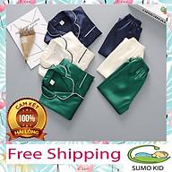 Bộ Pijama Lụa Dài Tay Cho Bé Yêu - Sumo kid thumbnail