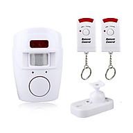 Báo động chống trộm âm thanh 105dB cảm biến hồng ngoại có hai điều khiển từ xa (Tặng kèm quạt mini cắm USB vỏ nhựa - màu ngẫu nhiên) thumbnail