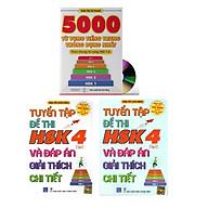 Combo 3 sa ch Bộ đề tuyê n tâ p đê thi năng lực Hán Ngữ HSK4 va đa p a n gia i thi ch chi tiê t +5000 từ vựng tiếng Trung thông dụng nhất+ DVD ta i liê u thumbnail