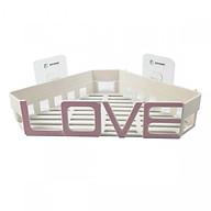 Kệ góc nhà tắm cách điệu chữ LOVE sử dụng miếng dán cường lực thumbnail